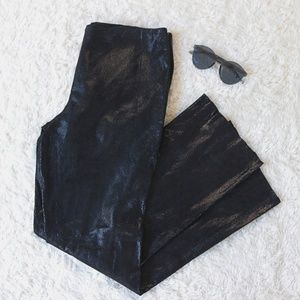 LAUNDRY Black Snake 100% Suede Leather Pants 10